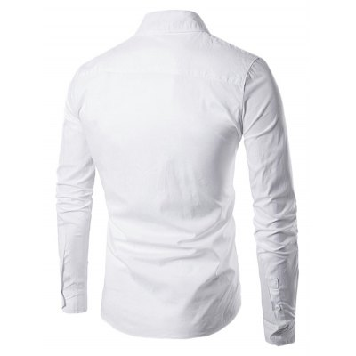Men Button Down Long Sleeve Embroidery ShirtMens Shirts<br>Men Button Down Long Sleeve Embroidery Shirt<br><br>Material: Cotton, Polyester<br>Package Contents: 1 x Shirt<br>Package size: 40.00 x 30.00 x 3.00 cm / 15.75 x 11.81 x 1.18 inches<br>Package weight: 0.3500 kg<br>Product weight: 0.3000 kg