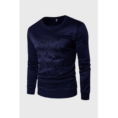 Casual Simple Embossed Print Long Sleeve SweatshirtMens Hoodies &amp; Sweatshirts<br>Casual Simple Embossed Print Long Sleeve Sweatshirt<br><br>Material: Polyester<br>Package Contents: 1 x Sweatshirt<br>Package size: 20.00 x 20.00 x 2.00 cm / 7.87 x 7.87 x 0.79 inches<br>Package weight: 0.4400 kg<br>Product weight: 0.4000 kg