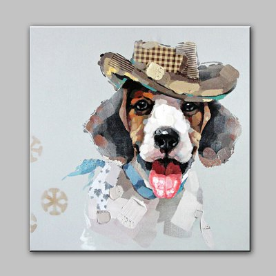 YHHP Abstract Hand Painted Dog Oil Painting