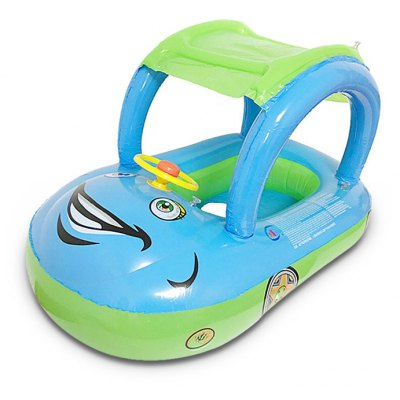 Portable Car Shape Baby Swimming Float Seat Ring