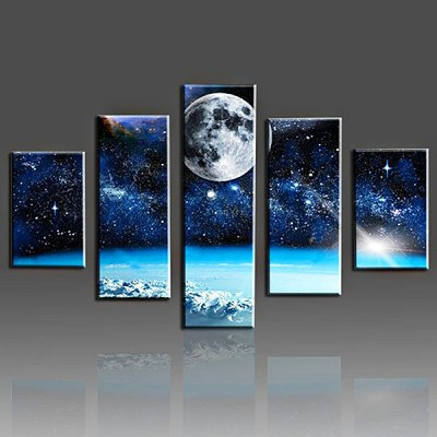 The Earth Printing Canvas Wall Decoration
