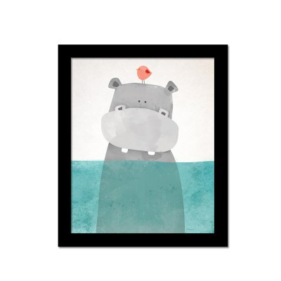 Canvas Print Cartoon Hippo Home Decoration Wall Pictures
