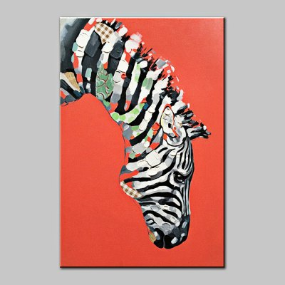 YHHP Abstract Hand Painted Zebra Oil Painting