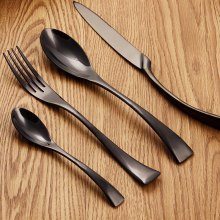 Parabolic Shaped Cutlery Stainless Steel Flatware 4PCS