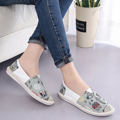 Trendy Canvas Slip-on Lazy Shoes for WomenWomens Sneakers<br>Trendy Canvas Slip-on Lazy Shoes for Women<br><br>Closure Type: Slip-On<br>Contents: 1 x Pair of Shoes<br>Materials: Rubber, Canvas<br>Occasion: Casual<br>Outsole Material: Rubber<br>Package Size ( L x W x H ): 25.00 x 18.00 x 11.00 cm / 9.84 x 7.09 x 4.33 inches<br>Package Weights: 0.49kg<br>Style: Leisure, Casual<br>Type: Casual Shoes<br>Upper Material: Canvas