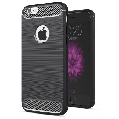 ASLING Carbon Fiber TPU Soft Case Cover for iPhone 6 / 6S