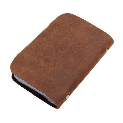 Leather Simple Fashion Card HolderWallets<br>Leather Simple Fashion Card Holder<br><br>Color: Brown<br>Features: Wearable<br>Gender: Men<br>Material: Leather, Polyester<br>Package Size(L x W x H): 16.00 x 11.00 x 3.00 cm / 6.3 x 4.33 x 1.18 inches<br>Package weight: 0.1100 kg<br>Packing List: 1 x Card Holder<br>Product Size(L x W x H): 15.00 x 10.50 x 0.30 cm / 5.91 x 4.13 x 0.12 inches<br>Product weight: 0.0700 kg<br>Style: Fashion<br>Type: Wallet