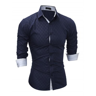 Men Button Down Long Sleeve Inner Contrast ShirtMens Shirts<br>Men Button Down Long Sleeve Inner Contrast Shirt<br><br>Material: Cotton, Polyester<br>Package Contents: 1 x Shirt<br>Package size: 40.00 x 30.00 x 3.00 cm / 15.75 x 11.81 x 1.18 inches<br>Package weight: 0.3100 kg<br>Product weight: 0.2500 kg