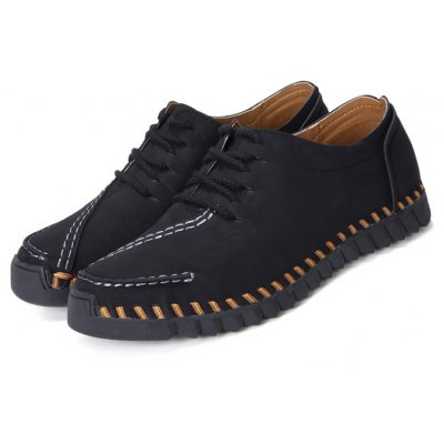 Slip Resistance Stitching Lace Up Doug Shoes for Men