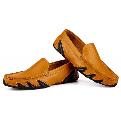 Casual Soft Pattern Slip On Leather Shoes for Men