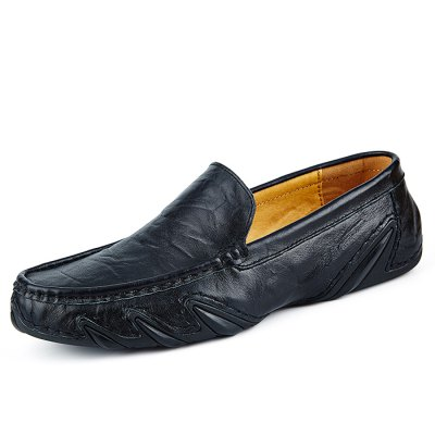 Casual Soft Pattern Slip On Leather Shoes for MenMen's Oxford<br>Casual Soft Pattern Slip On Leather Shoes for Men<br><br>Closure Type: Slip-On<br>Contents: 1 x Pair of Shoes<br>Function: Slip Resistant<br>Materials: Rubber, Genuine Leather<br>Occasion: Casual, Daily<br>Outsole Material: Rubber<br>Package Size ( L x W x H ): 31.00 x 21.00 x 11.00 cm / 12.2 x 8.27 x 4.33 inches<br>Package Weights: 0.755kg<br>Pattern Type: Solid<br>Seasons: Autumn,Spring<br>Style: Modern, Leisure, Comfortable, Casual, Business<br>Toe Shape: Round Toe<br>Type: Casual Leather Shoes<br>Upper Material: Genuine Leather