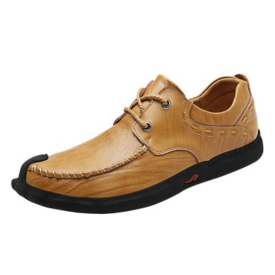 Classic Slip Resistance Stitching Leather Shoes  for MenMen's Oxford<br>Classic Slip Resistance Stitching Leather Shoes  for Men<br><br>Closure Type: Lace-Up<br>Contents: 1 x Pair of Shoes<br>Function: Slip Resistant<br>Materials: Rubber, Leather<br>Occasion: Casual, Daily<br>Outsole Material: Rubber<br>Package Size ( L x W x H ): 33.00 x 22.00 x 11.00 cm / 12.99 x 8.66 x 4.33 inches<br>Package Weights: 0.98kg<br>Pattern Type: Solid<br>Seasons: Autumn,Spring<br>Style: Modern, Leisure, Fashion, Comfortable, Casual, Business<br>Toe Shape: Round Toe<br>Type: Casual Leather Shoes<br>Upper Material: Leather