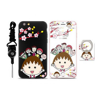 Protective Women Cartoon Case for iPhone 6 / 6S
