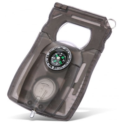 Card Style Multifunctional EDC Tool Compass / Magnifier / LED