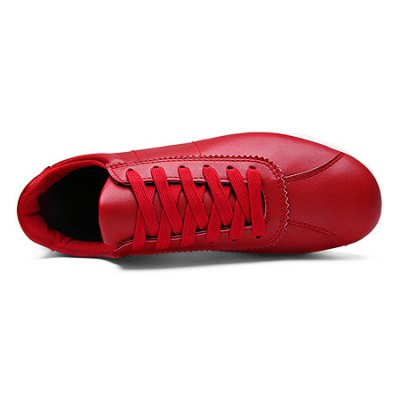 Slip Resistance Lace Up Soft Walking Shoes for MenAthletic Shoes<br>Slip Resistance Lace Up Soft Walking Shoes for Men<br><br>Closure Type: Lace-Up<br>Contents: 1 x Pair of Shoes<br>Function: Slip Resistant<br>Materials: Leather, Rubber<br>Occasion: Running, Daily, Casual<br>Outsole Material: Rubber<br>Package Size ( L x W x H ): 33.00 x 24.00 x 13.00 cm / 12.99 x 9.45 x 5.12 inches<br>Package Weights: 0.83kg<br>Pattern Type: Solid<br>Seasons: Autumn,Spring<br>Style: Leisure, Comfortable, Casual<br>Toe Shape: Round Toe<br>Type: Casual Shoes<br>Upper Material: Leather