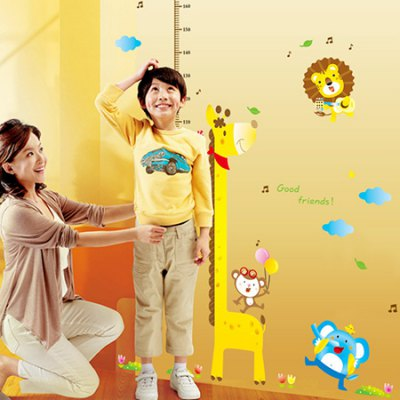 DSU 7015AB DIY Cartoon Animals Decal Height StickerWall Stickers<br>DSU 7015AB DIY Cartoon Animals Decal Height Sticker<br><br>Art Style: Plane Wall Stickers<br>Brand: DSU<br>Functions: Height Stickers<br>Hang In/Stick On: Bedrooms,Kids Room,Living Rooms,Nurseries<br>Material: Vinyl(PVC), Self-adhesive Plastic<br>Package Contents: 1 x Height Sticker<br>Package size (L x W x H): 55.00 x 7.00 x 7.00 cm / 21.65 x 2.76 x 2.76 inches<br>Package weight: 0.2600 kg<br>Product size (L x W x H): 100.00 x 140.00 x 0.10 cm / 39.37 x 55.12 x 0.04 inches<br>Product weight: 0.2300 kg<br>Subjects: Animal
