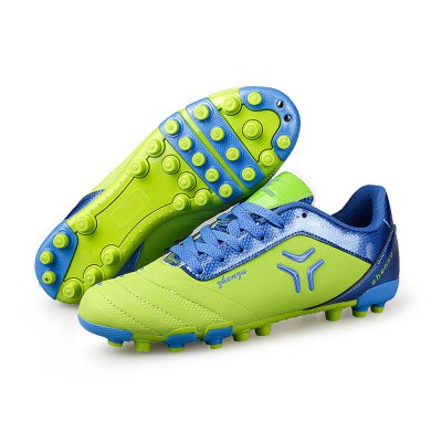 Male Split Joint Steel Spike Bottom Lace Up Soccer SneakersAthletic Shoes<br>Male Split Joint Steel Spike Bottom Lace Up Soccer Sneakers<br><br>Closure Type: Lace-Up<br>Contents: 1 x Pair of Shoes<br>Decoration: Split Joint<br>Function: Slip Resistant<br>Lining Material: Mesh<br>Materials: Rubber, PU, TPU, Mesh<br>Occasion: Sports, Soccer, Casual<br>Outsole Material: Rubber,TPU<br>Package Size ( L x W x H ): 25.00 x 18.00 x 11.00 cm / 9.84 x 7.09 x 4.33 inches<br>Package Weights: 0.92kg<br>Seasons: Autumn,Spring<br>Style: Fashion, Comfortable, Casual<br>Toe Shape: Round Toe<br>Type: Sports Shoes<br>Upper Material: PU