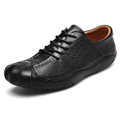 Breathable Slip Resistance Lace Up Leather Shoes for MenMen's Oxford<br>Breathable Slip Resistance Lace Up Leather Shoes for Men<br><br>Closure Type: Lace-Up<br>Contents: 1 x Pair of Shoes<br>Function: Slip Resistant<br>Materials: Rubber, Leather<br>Occasion: Casual, Daily<br>Outsole Material: Rubber<br>Package Size ( L x W x H ): 33.00 x 22.00 x 11.00 cm / 12.99 x 8.66 x 4.33 inches<br>Package Weights: 0.98kg<br>Pattern Type: Solid<br>Seasons: Autumn,Spring<br>Style: Modern, Leisure, Fashion, Comfortable, Casual, Business<br>Toe Shape: Round Toe<br>Type: Casual Leather Shoes<br>Upper Material: Leather
