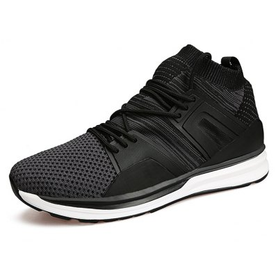 Male Breathable Lace Up Walking Sports Sneakers