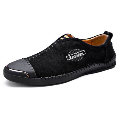Modern Business Slip-on Stitching Leather Shoes for Men