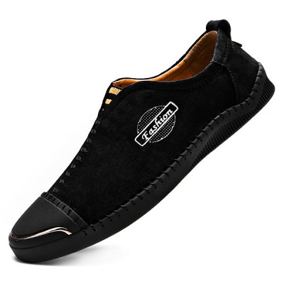 Modern Business Slip-on Stitching Leather Shoes for MenMen's Oxford<br>Modern Business Slip-on Stitching Leather Shoes for Men<br><br>Contents: 1 x Pair of Shoes<br>Decoration: Split Joint<br>Function: Slip Resistant<br>Materials: Leather, Rubber<br>Occasion: Casual, Daily<br>Outsole Material: Rubber<br>Package Size ( L x W x H ): 33.00 x 24.00 x 13.00 cm / 12.99 x 9.45 x 5.12 inches<br>Package Weights: 0.93kg<br>Pattern Type: Letter<br>Seasons: Autumn,Spring<br>Style: Modern, Leisure, Fashion, Comfortable, Casual, Business<br>Toe Shape: Round Toe<br>Type: Casual Leather Shoes<br>Upper Material: Leather