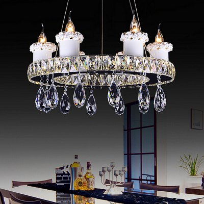 European Style Personality LED Crystal Chandelier 220VChandelier<br>European Style Personality LED Crystal Chandelier 220V<br><br>Battery Included: No<br>Bulb Base: E14<br>Bulb Included: No<br>Chain / Cord Adjustable or Not: Chain / Cord Adjustable<br>Chain / Cord Length ( CM ): 100cm<br>Features: Eye Protection<br>Fixture Height ( CM ): 25cm<br>Fixture Length ( CM ): 60cm<br>Fixture Width ( CM ): 60cm<br>Light Direction: Downlight<br>Number of Bulb: 6 Bulbs<br>Number of Bulb Sockets: 6<br>Package Contents: 1 x Light, 1 x Assembly Parts<br>Package size (L x W x H): 70.00 x 70.00 x 35.00 cm / 27.56 x 27.56 x 13.78 inches<br>Package weight: 8.0300 kg<br>Product weight: 7.0000 kg<br>Remote Control Supported: No<br>Shade Material: Stainless Steel, Crystal<br>Style: Modern/Contemporary<br>Suggested Room Size: 20 - 30?<br>Suggested Space Fit: Bedroom,Dining Room,Kitchen,Living Room,Study Room<br>Type: Chandeliers<br>Voltage ( V ): AC220