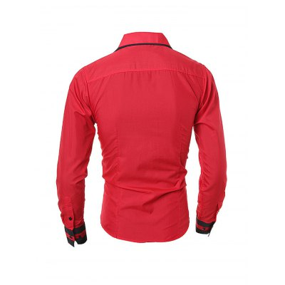 Personality Standard Fit Male Long Sleeved ShirtMens Shirts<br>Personality Standard Fit Male Long Sleeved Shirt<br><br>Material: Cotton<br>Package Contents: 1 x Men Shirt<br>Package size: 35.00 x 25.00 x 2.00 cm / 13.78 x 9.84 x 0.79 inches<br>Package weight: 0.2900 kg<br>Product weight: 0.2500 kg