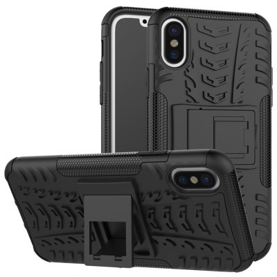 3D Relief Embossment Kickstand Phone Case for iPhone 8
