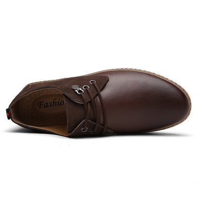 Male Slip Resistance Split Joint Lace Up Leather ShoesFormal Shoes<br>Male Slip Resistance Split Joint Lace Up Leather Shoes<br><br>Closure Type: Lace-Up, Lace-Up<br>Contents: 1 x Pair of Shoes, 1 x Pair of Shoes<br>Decoration: Split Joint, Split Joint<br>Function: Slip Resistant, Slip Resistant<br>Materials: Leather, Rubber, Leather, Rubber<br>Occasion: Dress, Daily, Casual, Casual, Daily, Dress<br>Outsole Material: Rubber, Rubber<br>Package Size ( L x W x H ): 33.00 x 22.00 x 11.00 cm / 12.99 x 8.66 x 4.33 inches, 33.00 x 22.00 x 11.00 cm / 12.99 x 8.66 x 4.33 inches<br>Package Weights: 0.98kg, 0.98kg<br>Pattern Type: Solid, Solid<br>Seasons: Autumn,Spring, Autumn,Spring<br>Style: Fashion, Casual, Business, Fashion, Business, Leisure, Casual, Modern, Leisure, Modern<br>Toe Shape: Round Toe, Round Toe<br>Type: Casual Leather Shoes, Casual Leather Shoes<br>Upper Material: Leather, Leather
