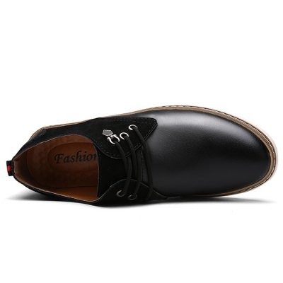 Male Slip Resistance Split Joint Lace Up Leather ShoesFormal Shoes<br>Male Slip Resistance Split Joint Lace Up Leather Shoes<br><br>Closure Type: Lace-Up<br>Contents: 1 x Pair of Shoes<br>Decoration: Split Joint<br>Function: Slip Resistant<br>Materials: Rubber, Leather<br>Occasion: Casual, Daily, Dress<br>Outsole Material: Rubber<br>Package Size ( L x W x H ): 33.00 x 22.00 x 11.00 cm / 12.99 x 8.66 x 4.33 inches<br>Package Weights: 0.98kg<br>Pattern Type: Solid<br>Seasons: Autumn,Spring<br>Style: Modern, Leisure, Fashion, Casual, Business<br>Toe Shape: Round Toe<br>Type: Casual Leather Shoes<br>Upper Material: Leather