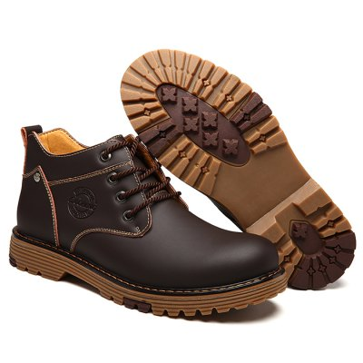 Male Martin High Slip Resistance Lace Up Leather BootsMens Boots<br>Male Martin High Slip Resistance Lace Up Leather Boots<br><br>Closure Type: Lace-Up<br>Contents: 1 x Pair of Boots<br>Function: Slip Resistant<br>Materials: Rubber, Leather<br>Occasion: Holiday, Dress, Daily, Casual<br>Outsole Material: Rubber<br>Package Size ( L x W x H ): 33.00 x 24.00 x 13.00 cm / 12.99 x 9.45 x 5.12 inches<br>Package Weights: 1.05kg<br>Pattern Type: Solid<br>Seasons: Autumn,Spring<br>Style: Modern, Leisure, Fashion, Casual<br>Toe Shape: Round Toe<br>Type: Boots<br>Upper Material: Leather