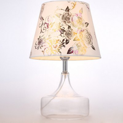 Simple Fashion Cloth LED Glass Table Lamp 220V