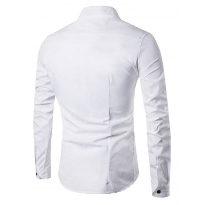 Men Casual Long Sleeve ShirtMens Shirts<br>Men Casual Long Sleeve Shirt<br><br>Material: Cotton, Polyester<br>Package Contents: 1 x Shirt<br>Package size: 40.00 x 30.00 x 2.00 cm / 15.75 x 11.81 x 0.79 inches<br>Package weight: 0.3300 kg<br>Product weight: 0.2500 kg