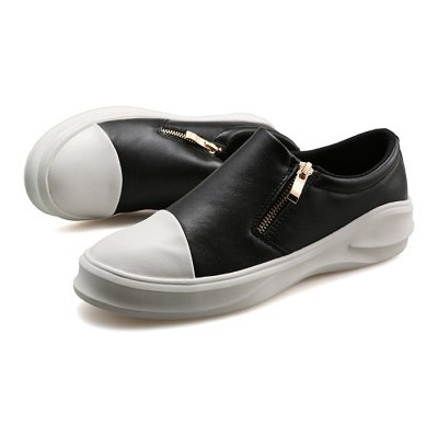 Male Casual Slip On Solid Color PU Leather ShoesCasual Shoes<br>Male Casual Slip On Solid Color PU Leather Shoes<br><br>Closure Type: Slip-On, Zip<br>Contents: 1 x Pair of Shoes<br>Decoration: Zippers<br>Function: Slip Resistant<br>Lining Material: Mesh<br>Materials: Rubber, PU, Mesh, Leather<br>Occasion: Daily, Holiday, Casual<br>Outsole Material: Rubber<br>Package Size ( L x W x H ): 31.00 x 25.00 x 11.00 cm / 12.2 x 9.84 x 4.33 inches<br>Package Weights: 1.18kg<br>Pattern Type: Solid<br>Seasons: Autumn,Spring<br>Style: Modern, Leisure, Fashion, Comfortable, Casual<br>Toe Shape: Round Toe<br>Type: Casual Leather Shoes<br>Upper Material: Leather,PU