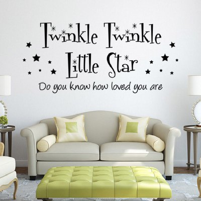 YEDUO English Phrase Waterproof Removable Wall Sticker