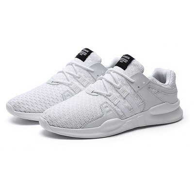 Male Knitted Athletic Lace Up Light Running Sneakers