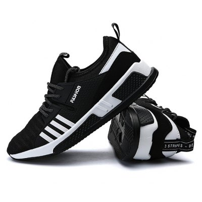Male Lace Up Mesh Split Joint Sports Running Sneakers
