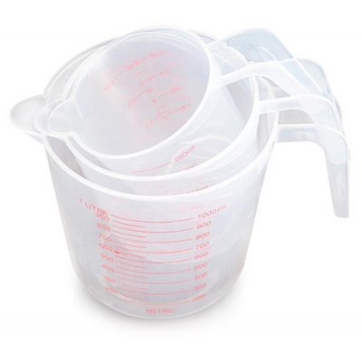 3PCS Multi-function Scale Cup