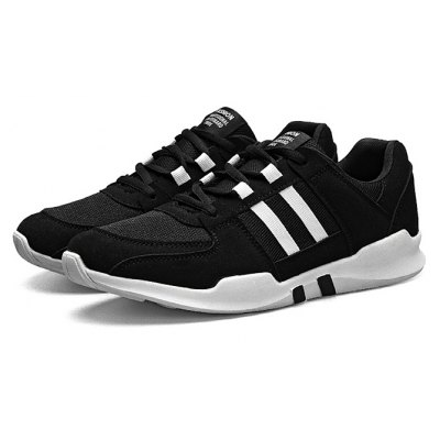 Male Casual Athletic Lace Up Split Joint Walking Shoes