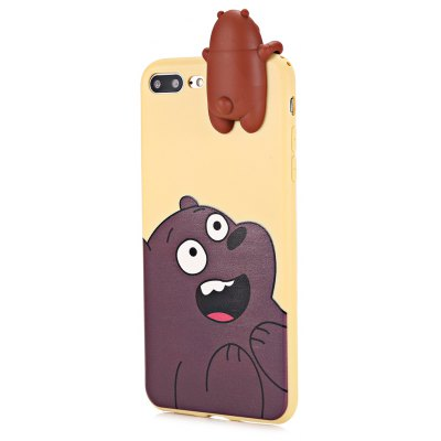 3D Solid Cute Bear Silicone Soft Phone Case for iPhone 7 Plus