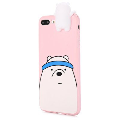 3D Solid Cartoon Bear Silicone Phone Case for iPhone 7 Plus