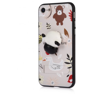 3D Solid Panda Phone Case Stand Cover for iPhone 7