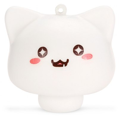 Cute Mushroom Cat Soft PU Foam Squishy Toy