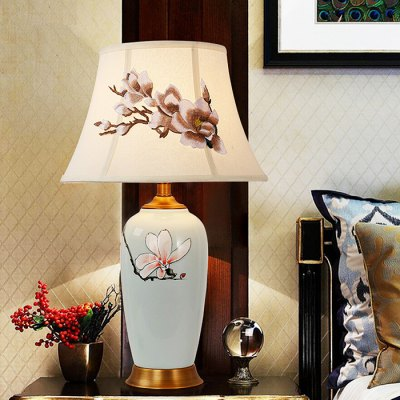 Chinese Style Ceramics Table Lamp 220VTable Lamps<br>Chinese Style Ceramics Table Lamp 220V<br><br>Available Color: White<br>Bulb Base Type: E27<br>Material: Ceramic, Cloth<br>Package Contents: 1 x Light, 1 x Assembly Parts<br>Package size (L x W x H): 49.00 x 49.00 x 75.00 cm / 19.29 x 19.29 x 29.53 inches<br>Package weight: 4.0300 kg<br>Powered Source: AC<br>Product size (L x W x H): 39.00 x 39.00 x 65.00 cm / 15.35 x 15.35 x 25.59 inches<br>Product weight: 3.0000 kg<br>Suitable for: Dance hall, Exhibition, Home use, Home Decoration