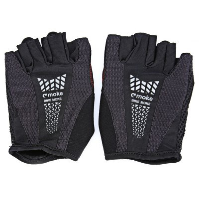MOKE Pair of Breathable Shockproof Half-finger Cycling Gloves