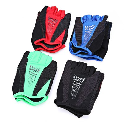 MOKE Pair of Breathable Shockproof Half-finger Cycling GlovesCycling Gloves<br>MOKE Pair of Breathable Shockproof Half-finger Cycling Gloves<br><br>Brand: MOKE<br>Features: Breathable, Quick Dry, Shock Absorption, Skid Resistance<br>Gender: Unisex<br>Package Contents: 1 x MOKE Pair of Cycling Gloves<br>Package size (L x W x H): 12.00 x 9.00 x 2.00 cm / 4.72 x 3.54 x 0.79 inches<br>Package weight: 0.0900 kg<br>Product weight: 0.0500 kg<br>Size: L,XL<br>Type: Half-finger