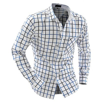 Business Classic Long Sleeve Checked Shirt