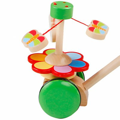Baby Toddler Walker Early Educational Hand Push Toy