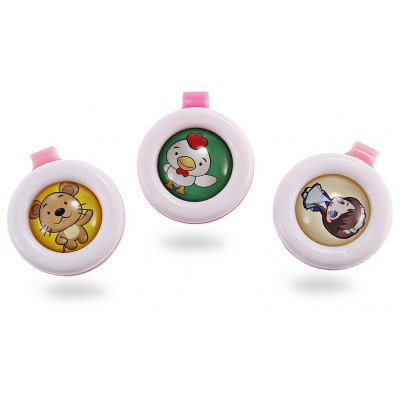 3PCS Mini Water-resistant Clip-on Mosquito Repellent Buckle