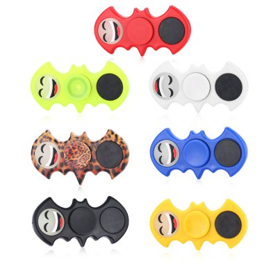 ABS Luminous Smiley Face Bat Shape Fidget SpinnerFidget Spinners<br>ABS Luminous Smiley Face Bat Shape Fidget Spinner<br><br>Center Bearing Material: Stainless Steel<br>Color: Red<br>Features: Flashing, LED Light<br>Frame material: ABS<br>Package Contents: 1 x Fidget Spinner<br>Package size (L x W x H): 9.00 x 9.00 x 1.50 cm / 3.54 x 3.54 x 0.59 inches<br>Package weight: 0.0560 kg<br>Product size (L x W x H): 8.30 x 4.00 x 1.30 cm / 3.27 x 1.57 x 0.51 inches<br>Product weight: 0.0290 kg<br>Swing Numbers: Dual Bar<br>Type: Dual Blade, Bat
